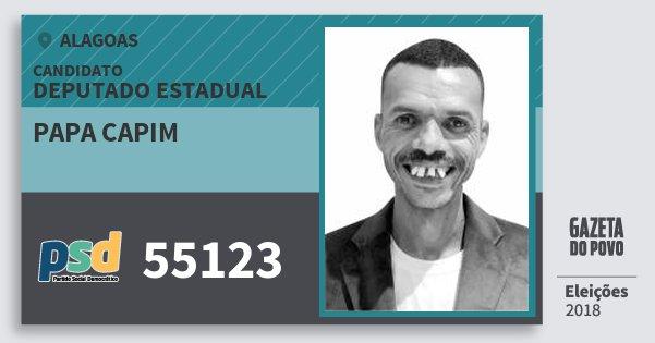 Santinho Papa Capim 55123 (PSD) Deputado Estadual | Alagoas | Eleições 2018