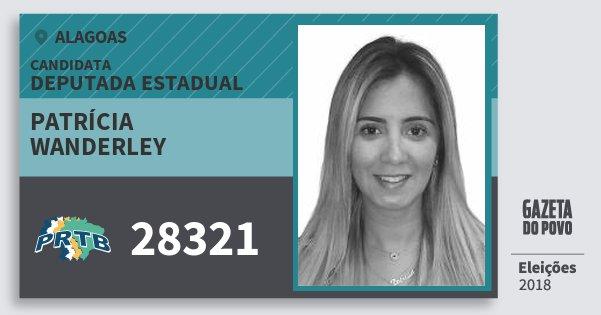 Santinho Patrícia Wanderley 28321 (PRTB) Deputada Estadual | Alagoas | Eleições 2018