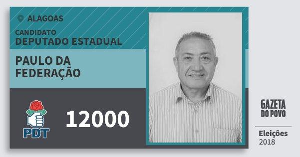 Santinho Paulo da Federação 12000 (PDT) Deputado Estadual | Alagoas | Eleições 2018