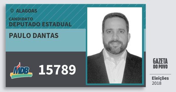 Santinho Paulo Dantas 15789 (MDB) Deputado Estadual   Alagoas   Eleições 2018
