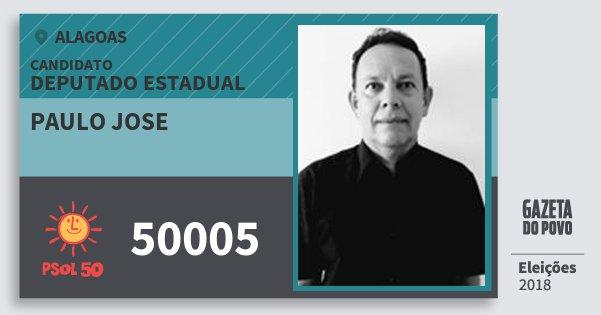 Santinho Paulo Jose 50005 (PSOL) Deputado Estadual | Alagoas | Eleições 2018