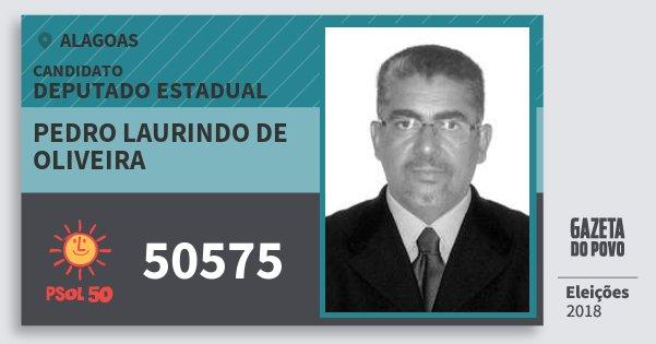 Santinho Pedro Laurindo de Oliveira 50575 (PSOL) Deputado Estadual | Alagoas | Eleições 2018
