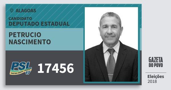 Santinho Petrucio Nascimento 17456 (PSL) Deputado Estadual | Alagoas | Eleições 2018