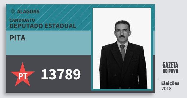 Santinho Pita 13789 (PT) Deputado Estadual | Alagoas | Eleições 2018