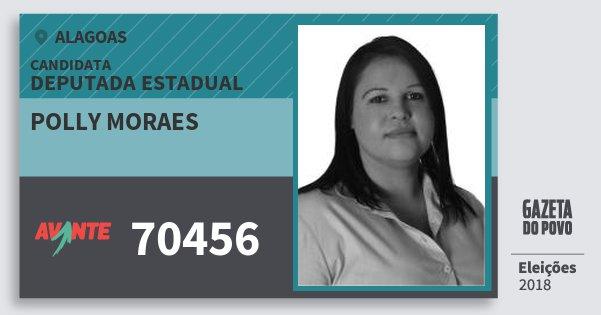 Santinho Polly Moraes 70456 (AVANTE) Deputada Estadual | Alagoas | Eleições 2018