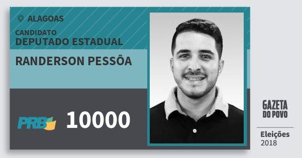 Santinho Randerson Pessôa 10000 (PRB) Deputado Estadual | Alagoas | Eleições 2018