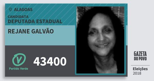 Santinho Rejane Galvão 43400 (PV) Deputada Estadual | Alagoas | Eleições 2018