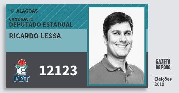 Santinho Ricardo Lessa 12123 (PDT) Deputado Estadual | Alagoas | Eleições 2018