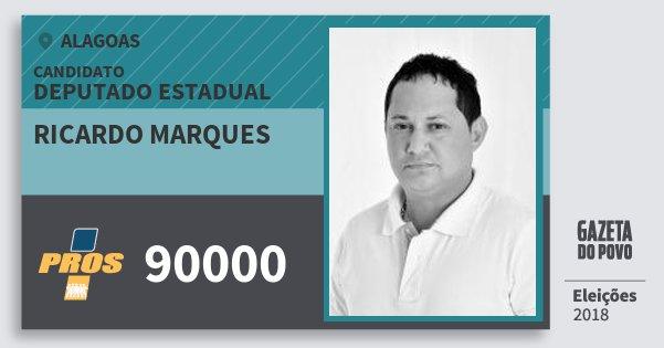 Santinho Ricardo Marques 90000 (PROS) Deputado Estadual   Alagoas   Eleições 2018
