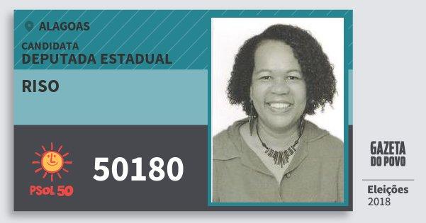 Santinho Riso 50180 (PSOL) Deputada Estadual | Alagoas | Eleições 2018