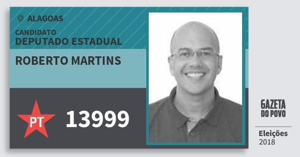 Santinho Roberto Martins 13999 (PT) Deputado Estadual | Alagoas | Eleições 2018