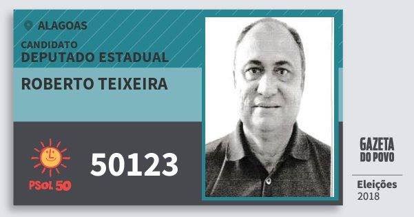 Santinho Roberto Teixeira 50123 (PSOL) Deputado Estadual | Alagoas | Eleições 2018