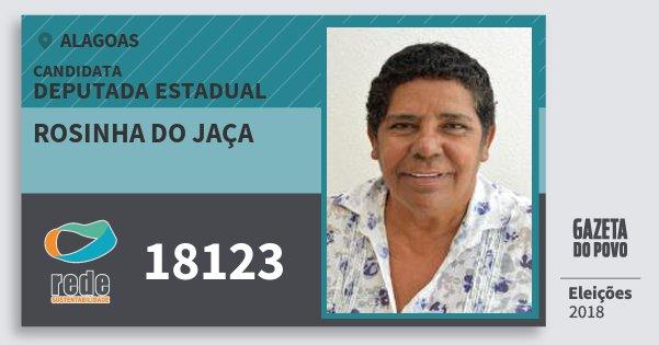 Santinho Rosinha do Jaça 18123 (REDE) Deputada Estadual | Alagoas | Eleições 2018