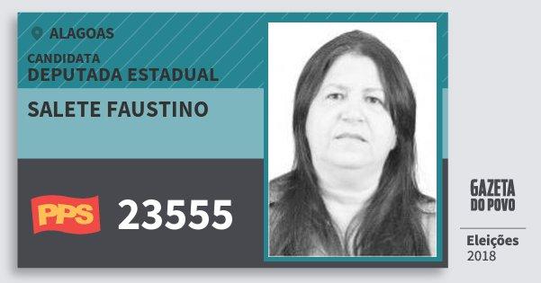 Santinho Salete Faustino 23555 (PPS) Deputada Estadual   Alagoas   Eleições 2018
