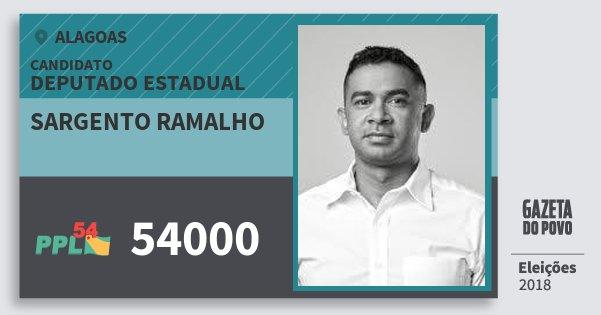 Santinho Sargento Ramalho 54000 (PPL) Deputado Estadual | Alagoas | Eleições 2018