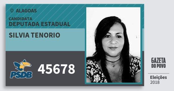 Santinho Silvia Tenorio 45678 (PSDB) Deputada Estadual | Alagoas | Eleições 2018