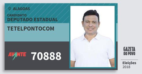 Santinho Tetelpontocom 70888 (AVANTE) Deputado Estadual | Alagoas | Eleições 2018