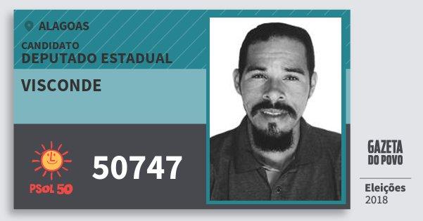 Santinho Visconde 50747 (PSOL) Deputado Estadual | Alagoas | Eleições 2018