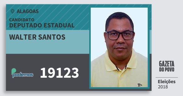 Santinho Walter Santos 19123 (PODE) Deputado Estadual | Alagoas | Eleições 2018