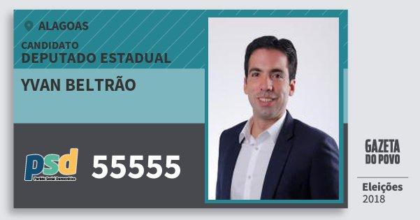 Santinho Yvan Beltrão 55555 (PSD) Deputado Estadual | Alagoas | Eleições 2018