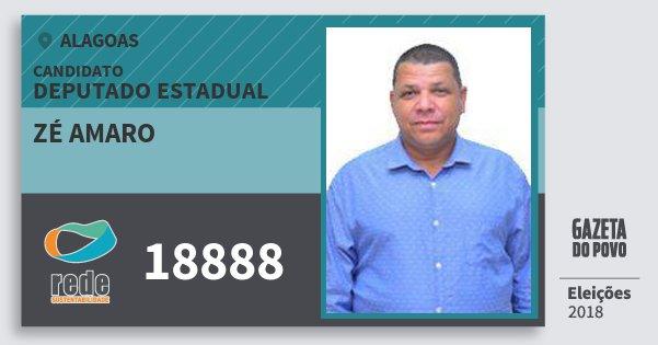 Santinho Zé Amaro 18888 (REDE) Deputado Estadual | Alagoas | Eleições 2018