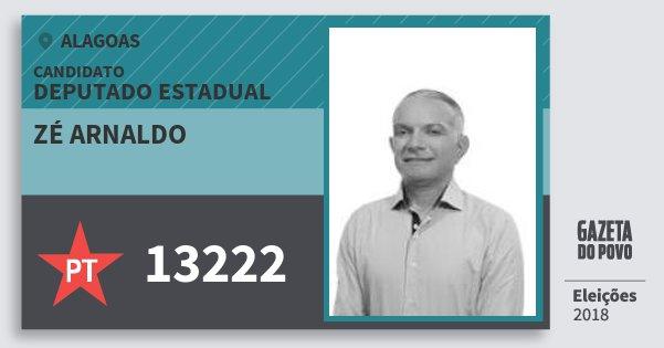 Santinho Zé Arnaldo 13222 (PT) Deputado Estadual | Alagoas | Eleições 2018