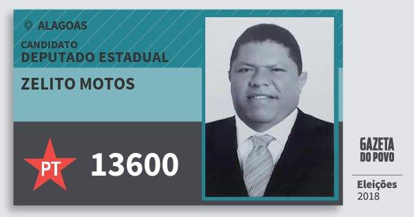 Santinho Zelito Motos 13600 (PT) Deputado Estadual   Alagoas   Eleições 2018