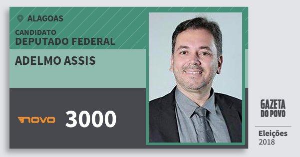 Santinho Adelmo Assis 3000 (NOVO) Deputado Federal | Alagoas | Eleições 2018