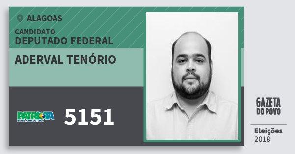 Santinho Aderval Tenório 5151 (PATRI) Deputado Federal | Alagoas | Eleições 2018
