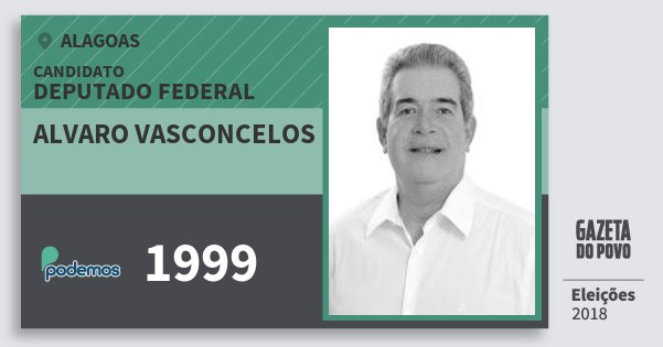 Santinho Alvaro Vasconcelos 1999 (PODE) Deputado Federal | Alagoas | Eleições 2018