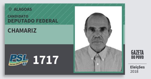 Santinho Chamariz 1717 (PSL) Deputado Federal | Alagoas | Eleições 2018