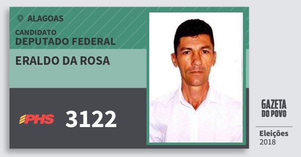 Santinho Eraldo da Rosa 3122 (PHS) Deputado Federal | Alagoas | Eleições 2018