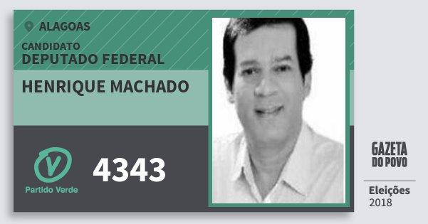 Santinho Henrique Machado 4343 (PV) Deputado Federal | Alagoas | Eleições 2018