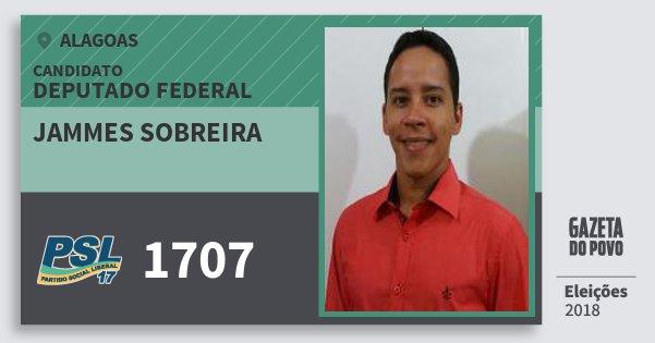 Santinho Jammes Sobreira 1707 (PSL) Deputado Federal | Alagoas | Eleições 2018