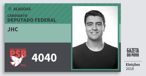 Santinho Jhc 4040 (PSB) Deputado Federal | Alagoas | Eleições 2018