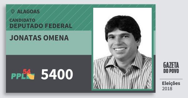 Santinho Jonatas Omena 5400 (PPL) Deputado Federal | Alagoas | Eleições 2018