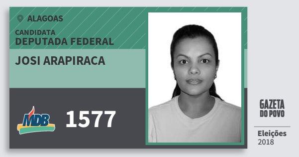 Santinho Josi Arapiraca 1577 (MDB) Deputada Federal | Alagoas | Eleições 2018