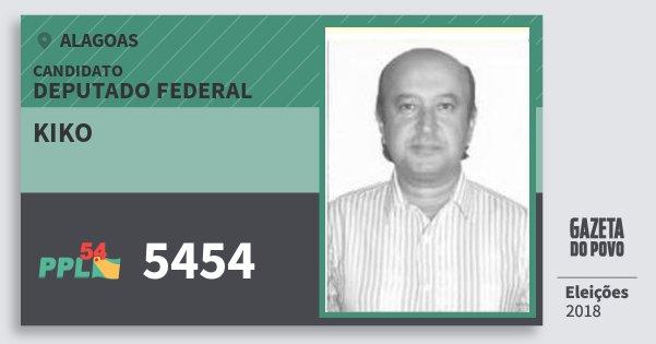 Santinho Kiko 5454 (PPL) Deputado Federal | Alagoas | Eleições 2018