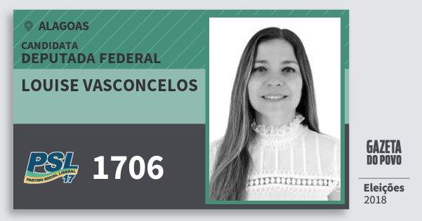 Santinho Louise Vasconcelos 1706 (PSL) Deputada Federal | Alagoas | Eleições 2018