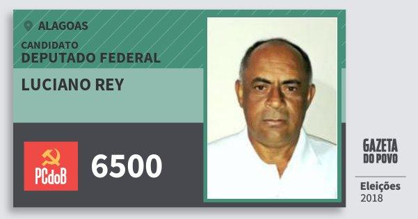 Santinho Luciano Rey 6500 (PC do B) Deputado Federal | Alagoas | Eleições 2018