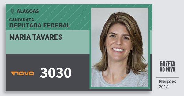 Santinho Maria Tavares 3030 (NOVO) Deputada Federal | Alagoas | Eleições 2018