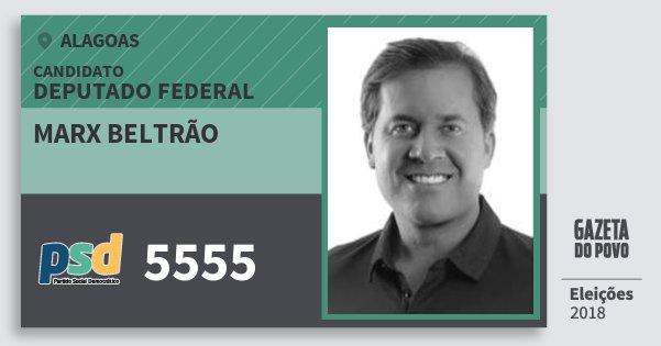 Santinho Marx Beltrão 5555 (PSD) Deputado Federal | Alagoas | Eleições 2018