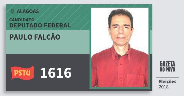Santinho Paulo Falcão 1616 (PSTU) Deputado Federal | Alagoas | Eleições 2018