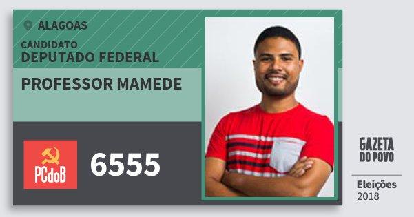 Santinho Professor Mamede 6555 (PC do B) Deputado Federal | Alagoas | Eleições 2018