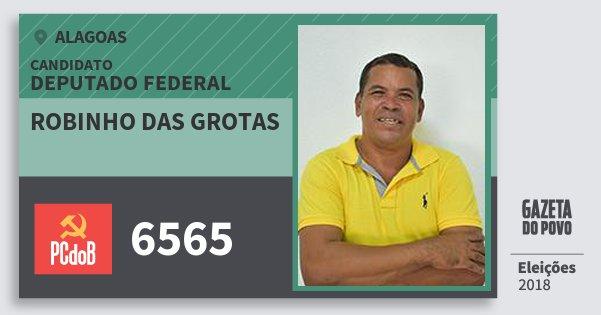 Santinho Robinho das Grotas 6565 (PC do B) Deputado Federal | Alagoas | Eleições 2018