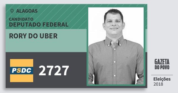 Santinho Rory do Uber 2727 (DC) Deputado Federal | Alagoas | Eleições 2018