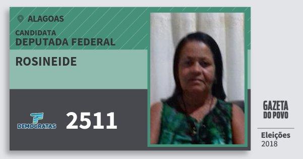 Santinho Rosineide 2511 (DEM) Deputada Federal | Alagoas | Eleições 2018