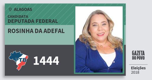 Santinho Rosinha da Adefal 1444 (PTB) Deputada Federal | Alagoas | Eleições 2018