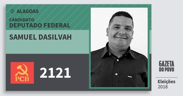 Santinho Samuel Dasilvah 2121 (PCB) Deputado Federal | Alagoas | Eleições 2018