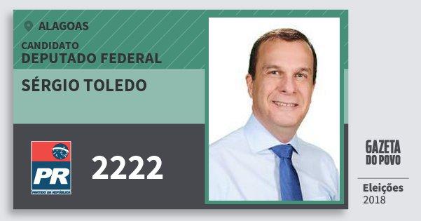 Santinho Sérgio Toledo 2222 (PR) Deputado Federal | Alagoas | Eleições 2018